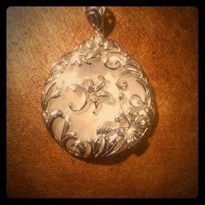Sterling silver Flower pendant NWOT